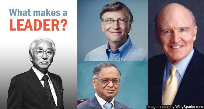 Leadership - Akio Morita, Bill Gates, N. R. Narayana Murthy, John Welch