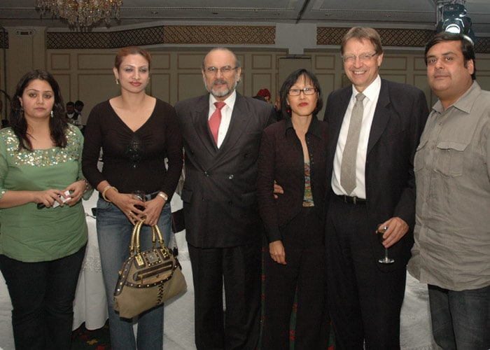 Rahul Mittra (Brandsmith) with wife & Ambassadors of Peru & Sweden.