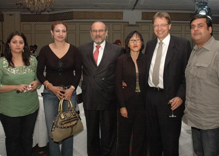 Rahul Mittra (Brandsmith) with wife & Ambassadors of Peru & Sweden.