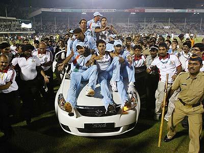 Ecstatic Team India