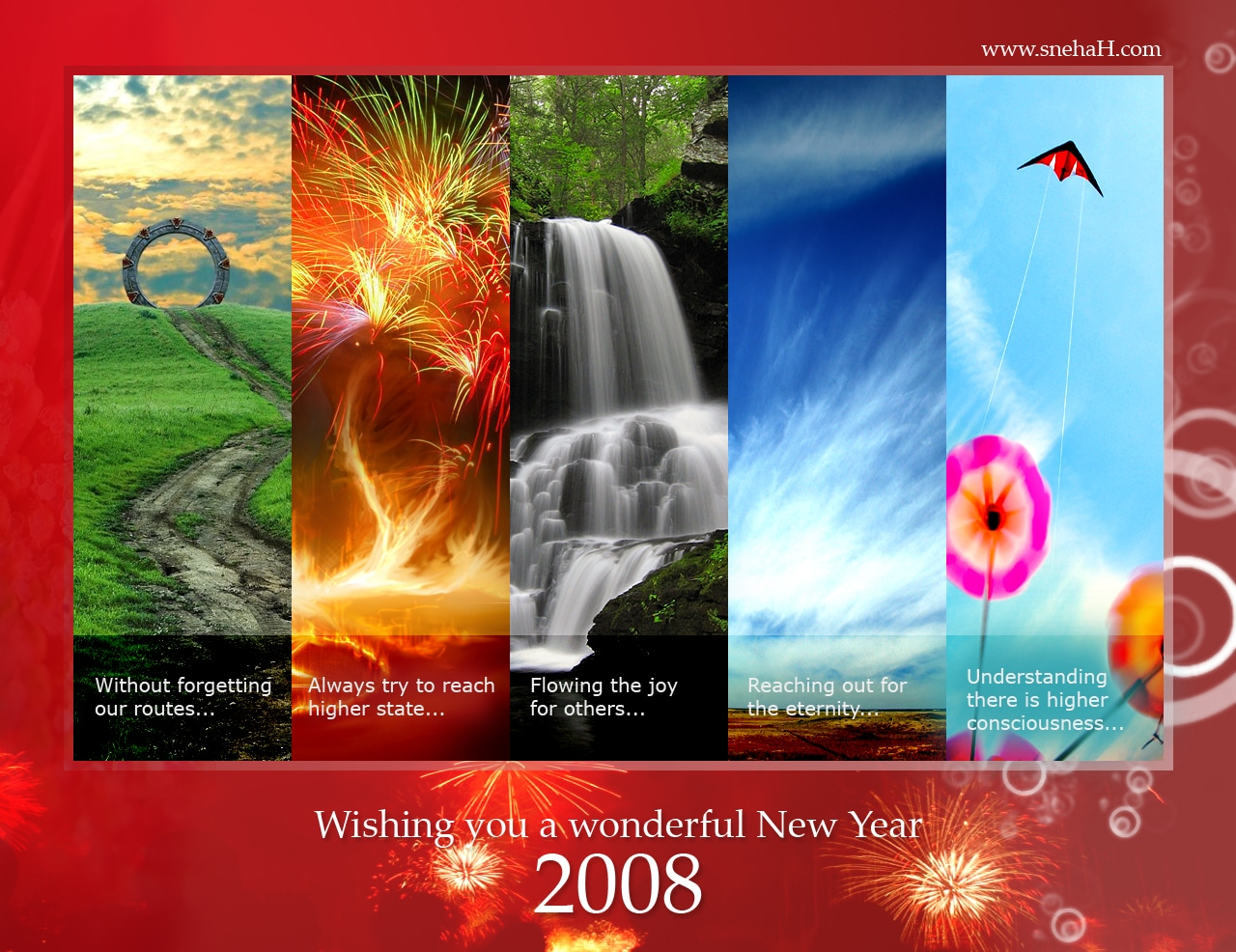 Happy New Year - Greetings - snehaH.com and WittySparks.com