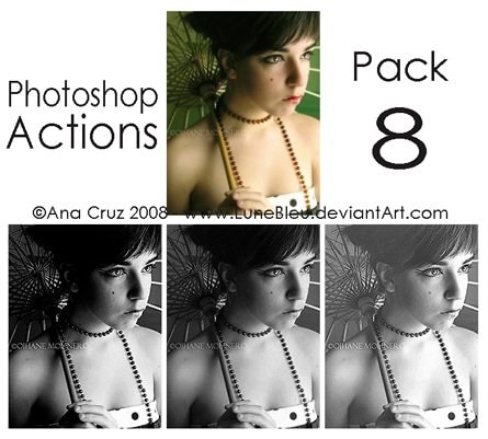 Photoshop actions pack 8 by lune tutorials
