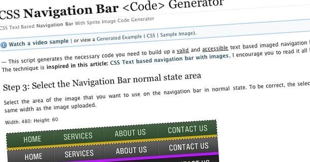CSS Navigation Bar <Code> Generator