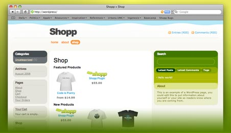 Shopp - wordpress plugin e-commerce