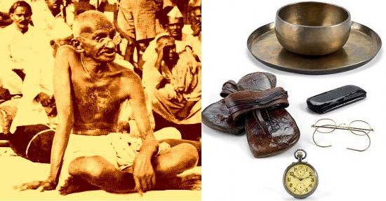 Mahatma Gandhi's belongings are up for auction