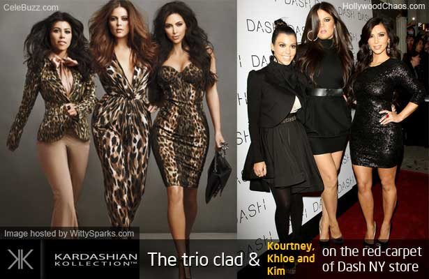 Kortney, Khloe and Kim Kardashian at Dash New York store