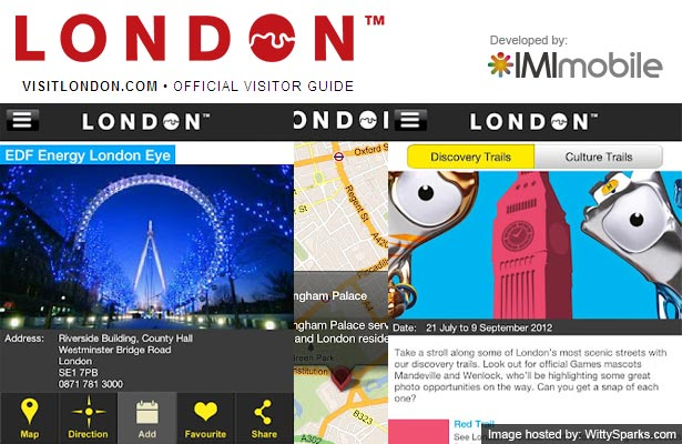 London Official City Guide Application developed by IMImobile