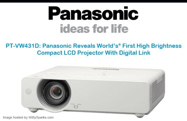 World's First High Brightness Compact LCD Projector by Panasonic