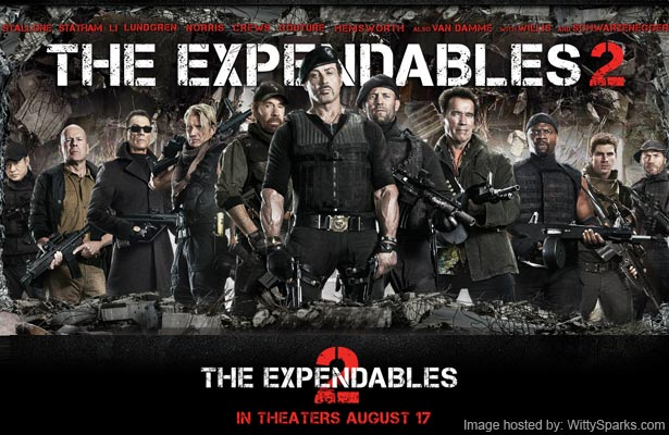 The Expendables 2 is all set to release on 17th Aug 2012
