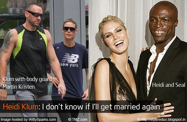 Heidi Klum with body guard Martin Kristen who may have destroyed her 7 year marriage. Heidi and Seal when in their married paradise.