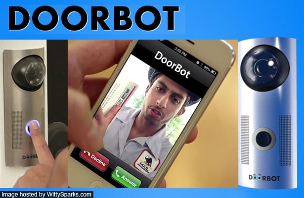 Doorbot - Deal with visitors vis your smartphone/ tablet