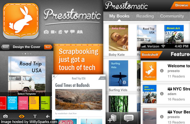 Presstomatic - Create your own social and collaborative scrapbooks - Free on iPhone and iPad
