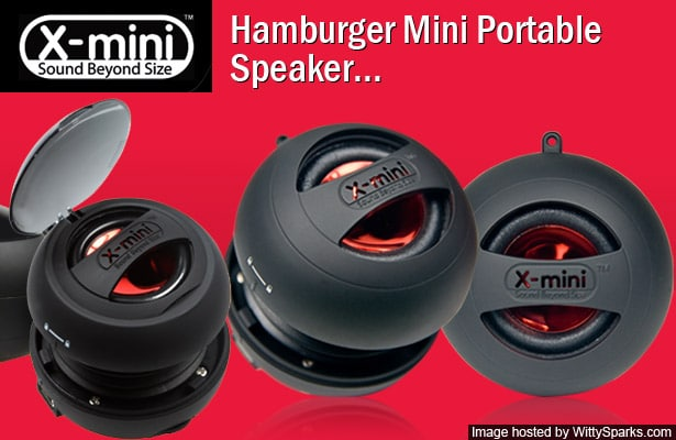 X-mini - Sound Beyond Size - Hamburger Mini Portable Speaker