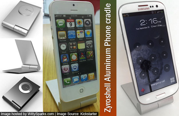 Zyroshell Aluminum Phone Cradle for iPhone and Android