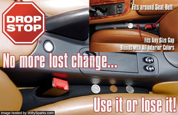 Drop Stop Car Wedge to reduce Driver Distraction