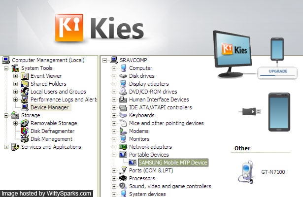 Samsung MTP USB Driver to connect Samsung Galaxy Smartphones via Kies