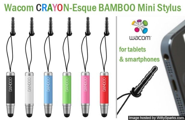 Wacom released Crayon-Esque Bamboo Stylus mini for Tablets and Smartphones