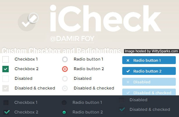 iCheck - customized checkboxes and radio buttons with jQuery