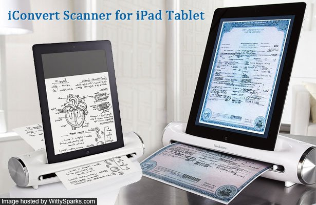 iConvert Scanner for your iPad Tablet