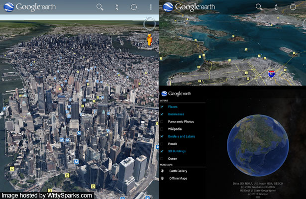 Google Earth 7.1 for Android Tablets and Smartphones
