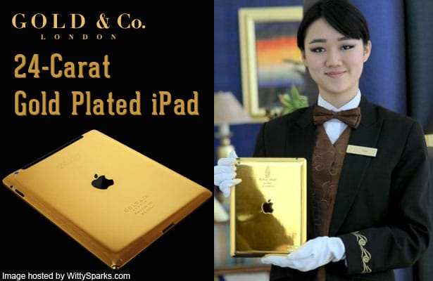 24 Carat Gold iPad