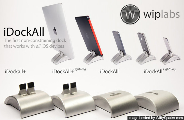 iDockAll - iPhones, iPads & iPods with their covers!