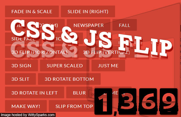 CSS3 and JavaScript Flip Animation