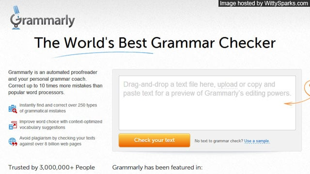 Bad at Grammar? Grammarly.com could help you!