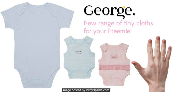 George - Tommy come up with an all new range of tiny cloths for your Preemie!