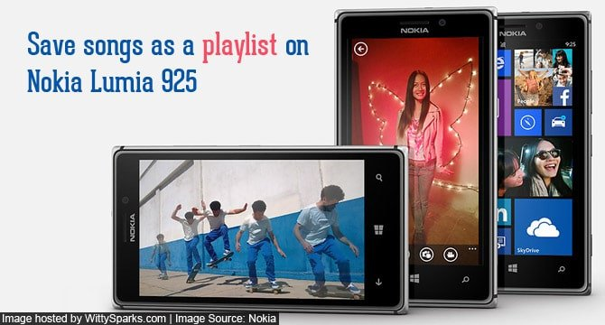 Create a playlist on Nokia Lumia 925 Windows phone