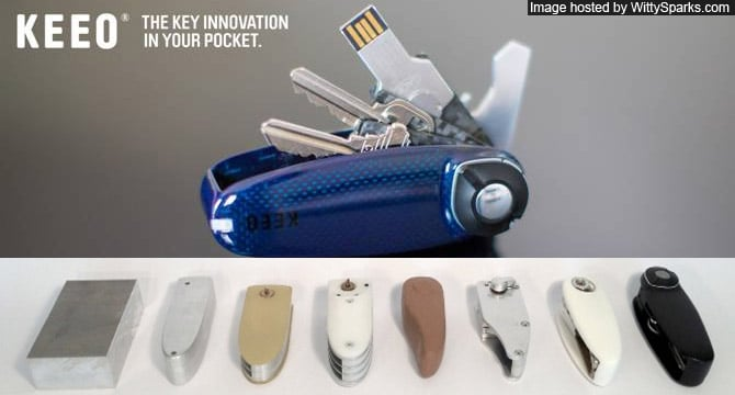KEEO Bluetooth enabled Keyholder with tracking App for smartphone