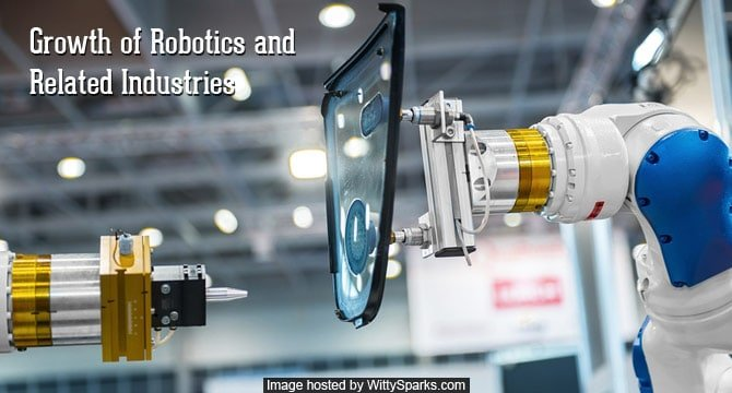 Rapid growth of Robotics and related Industries