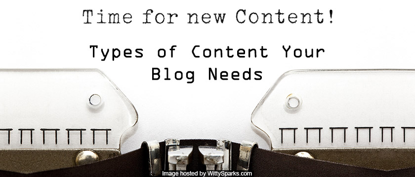 Your Blog needs fresh and New Content