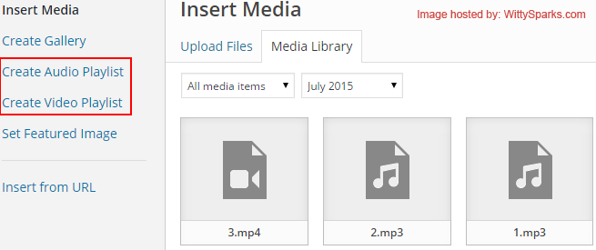 Creating Audio/Video Playlists - WordPress