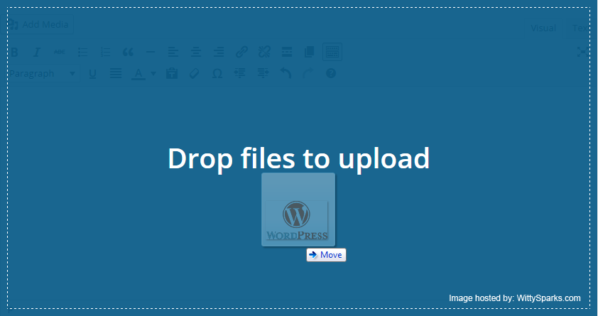 Drag and Drop Files to Upload - WordPress