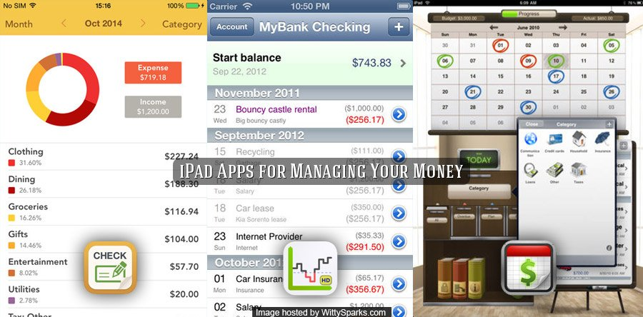 iPad apps for managing finance