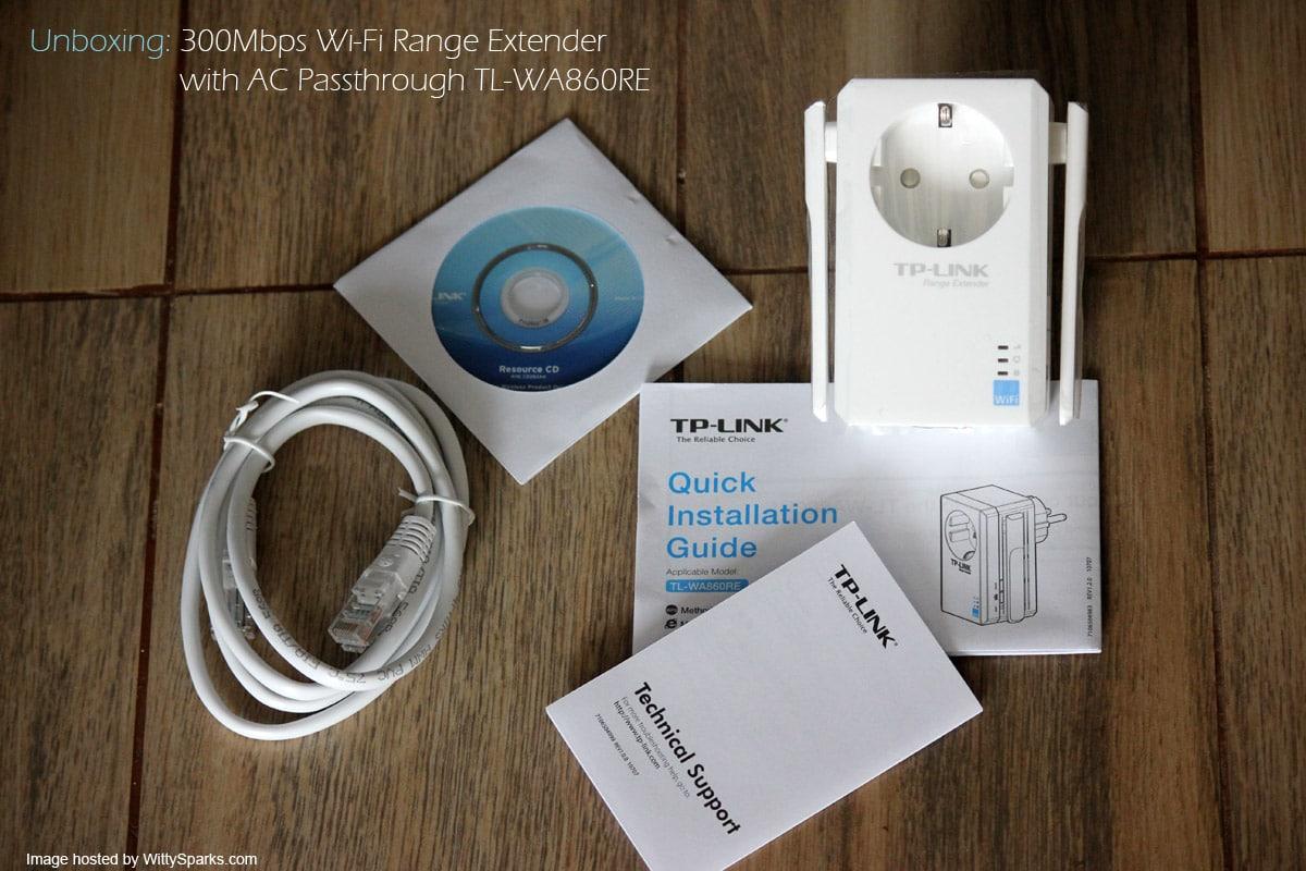 Unboxing TP-LINK - WiFi TL-WA860RE Range Extender
