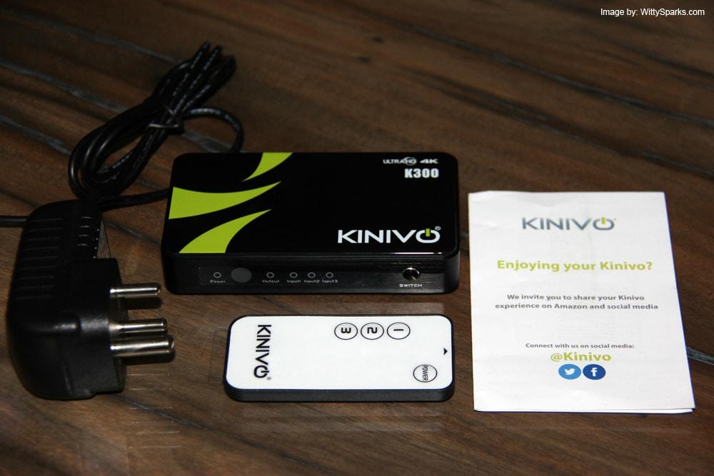 Kinivo K300 with IR Remote and AC Adapter