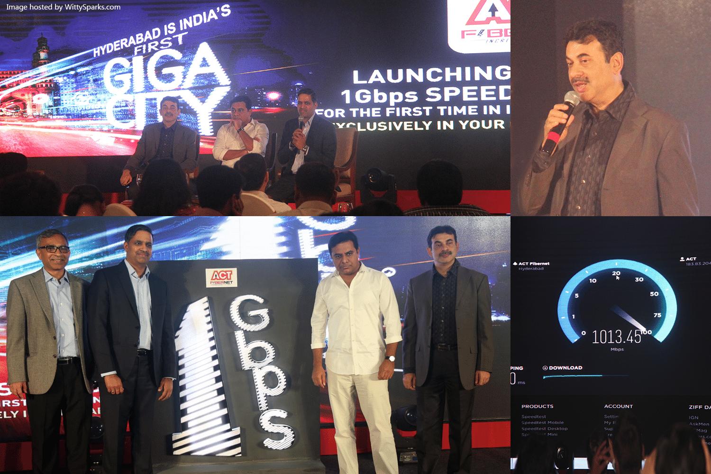 ACT Fibernet 1Gbps Launch Event Taj Krishna