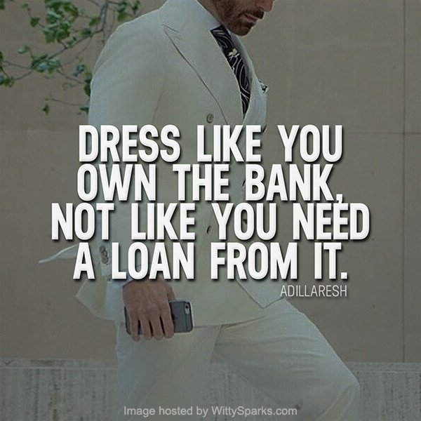 Business Dressing Quote - Adil Laresh