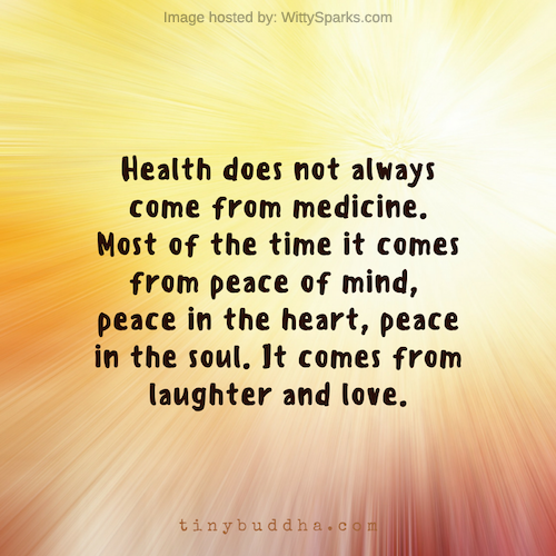 Health does not always come from medicine