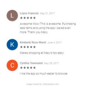 Macy's App Reviews