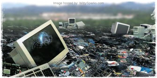 Electronic appliances are destructive for the environment
