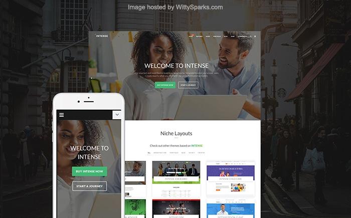 Intense - Multifunctional Website Template