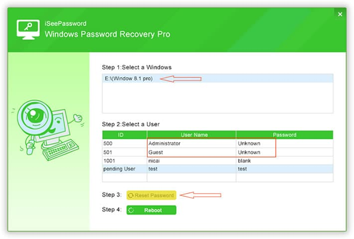 iSeePassword Reset Password Tool