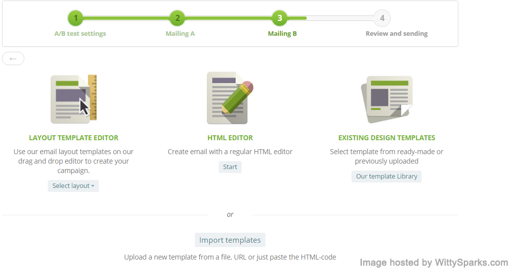 SendPulse - AB test design process