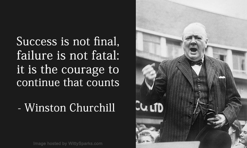 Success Quote by Winston Churchill