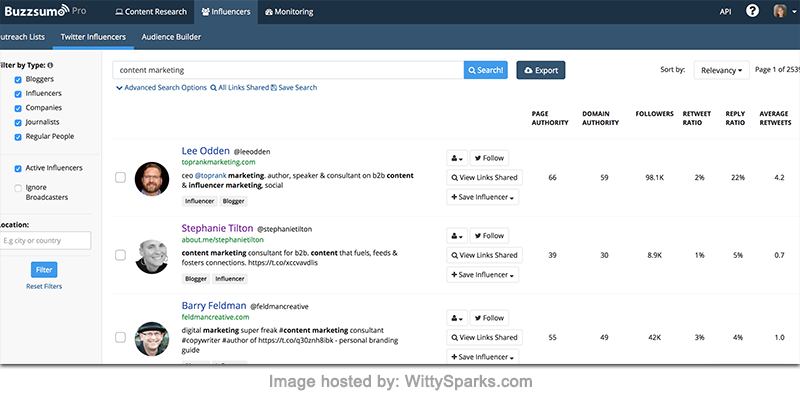 BuzzSumo - Most Shared Content and Key Influencers
