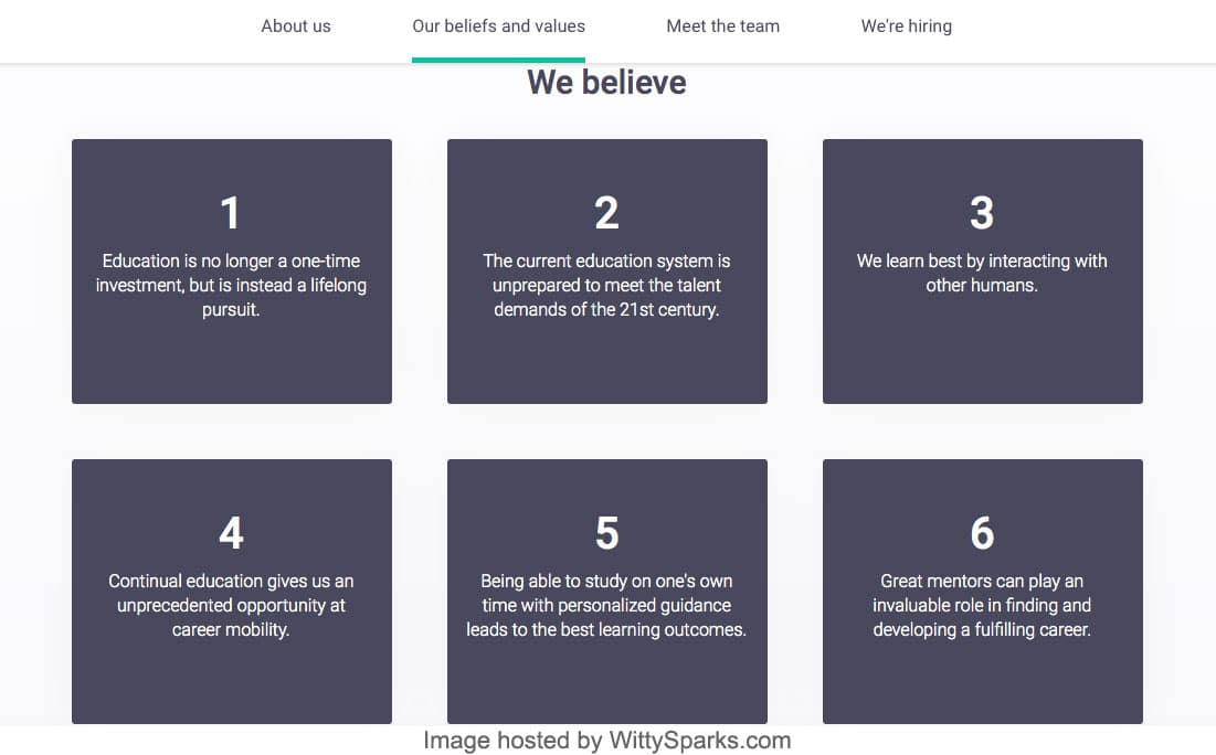 Springboard Beliefs