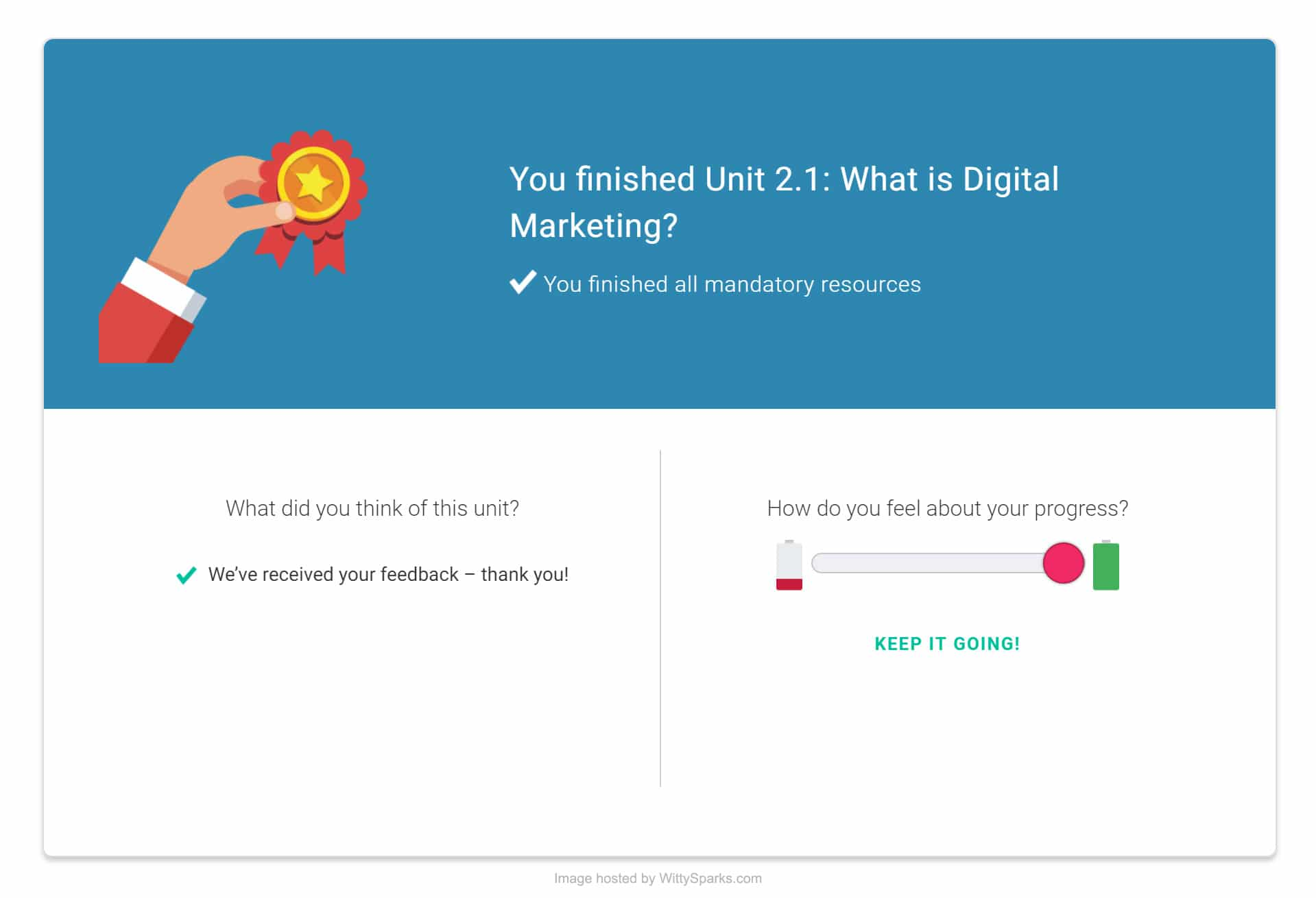 Springboard Course Chapter Feedback